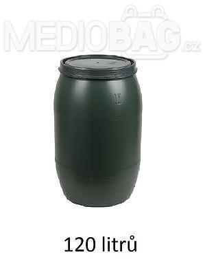Plastový sud 120l s víkem - zelený