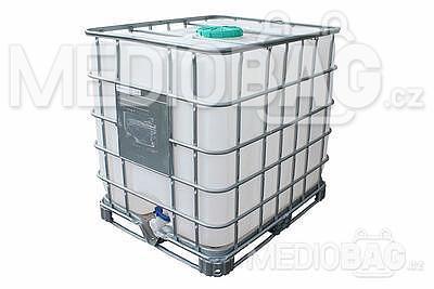 IBC kontejner - nádrž na 1000l - NOVÁ (Označení UN - i pro nebezpečné látky)