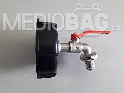 """Redukce (adaptér) na IBC nádrž DN80 - zahradní mosazný kohout 3/4"""" - 1"""