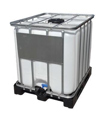 IBC kontejner - nádrž na 1000 litrů - Použitá -  PROFESIONÁLNĚ VYMYTÁ!