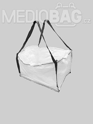 Big bag nový: 050x60x80cm Z/RD 300kg 2x nosný popruh - 1