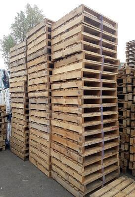 Dřevěná paleta s vyšší nosností 105x108x14cm - 2