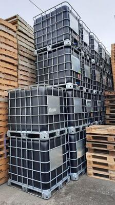 IBC kontejner, nádrž na 1000l ČERNÁ - PROFESIONÁLNĚ VYMYTÁ! - 2