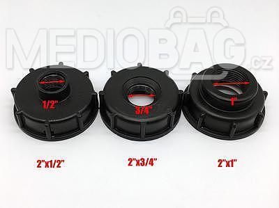 """Redukce (adaptér) na IBC nádrž DN50 - vnitřní závit jemný 3/4"""" - 2"""