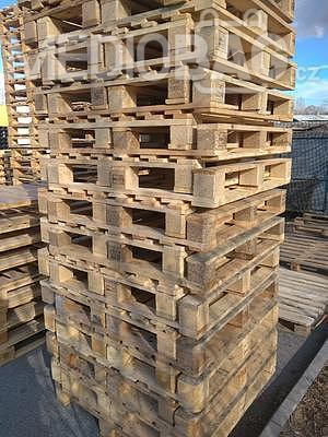 Dřevěná paleta 100 x 100 cm (1000 x 1000 mm) - 2