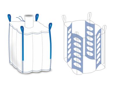 Big bag nový: 230x105x105cm N/V Q-Bag (4-panel) 1500kg - 2