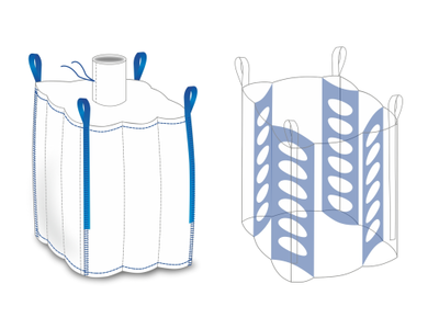 Big bag nový: 215x105x105cm N/V  Q-Bag (4-panel) 1500kg - 2