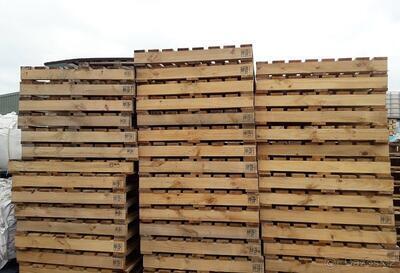 Dřevěná paleta s vyšší nosností 105x108x14cm - 3