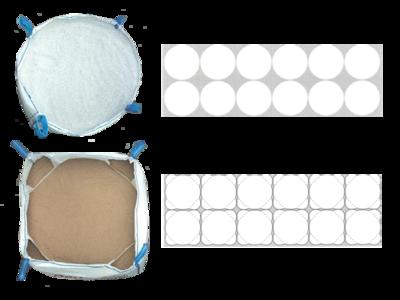 Big bag nový: 215x105x105cm N/V  Q-Bag (4-panel) 1500kg - 3