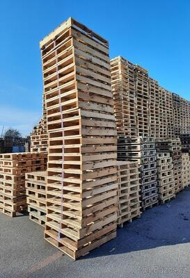 Dřevěná paleta s vyšší nosností 105x108x14cm - 4