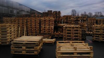 Dřevěná paleta MIX rozměrů - AKCE !!!, Odběr od 50ks - sleva 35Kč/ks+DPH ! Informace na telefonu 775 330 555. - 4