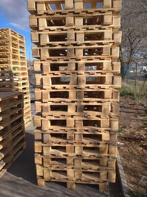 Dřevěná paleta 100 x 100 cm (1000 x 1000 mm) - 4