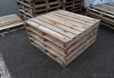 Dřevěná paleta s vyšší nosností 105x108x14cm - 5